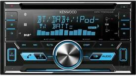 Kenwood DPX-7000DAB Double Din DAB Car Radio. Bluetooth, iPod, AUX, USB