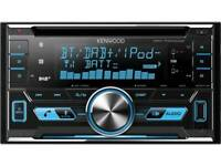 Kenwood DPX-7000DAB Double Din DAB Car Radio. Bluetooth, iPod, AUX, USB