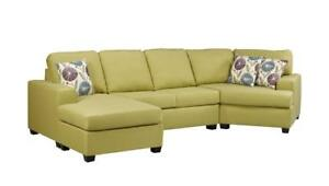 Canadian Made Sectional with Cuddler (AC713)