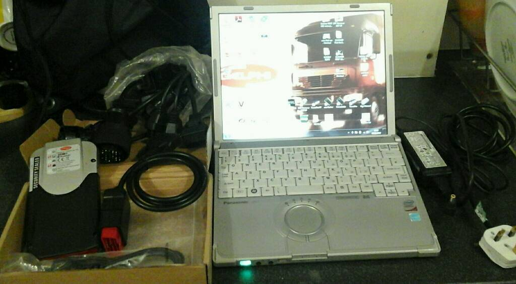 Diagnostic Kit Panasonic Toughbook Touchscreen, new VCI bluetooth  delphi+wow VDS | in Bethnal Green, London | Gumtree