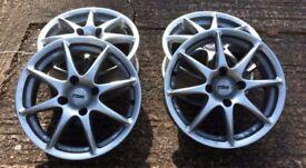 """Set of four 15"""" TSW Razor alloy wheels"""