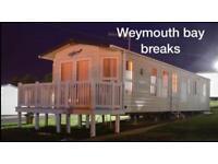 Caravan Hire ~ Weymouth Bay,Dorset ~ October Half Term