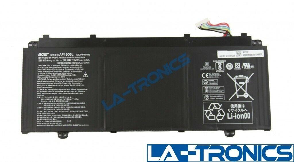 Genuine Laptop Battery 11.55V 4570mAh 53.7Wh for Acer Chromebook R13 CB5-312T