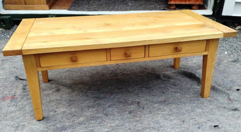 Quality Solid Oak Coffee Table With 3 Drawers Furniture Village In Costessey Norfolk Gumtree
