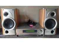 Denon AVC77 60 watts Integrated Audio Video Surround Amplifier Amp + Denon 2 Way speakers