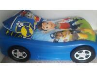 Litlle tikes blue car bed frame