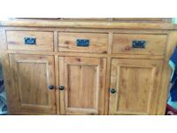 Solid Oak Dresser/Side Unit