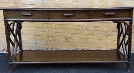 Bamboo Sideboard with glass top - £50 OVNO