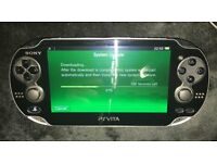 PS Vita with 2 cases, charger and 16GB memory card