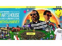 2 x tickets for sale - Artwork presents Art's House: A Lovely London Festival with DJ Harvey