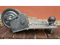 Braked Non-Slip Winch fitted with Adaptor Plate and Cable