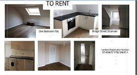 Recently refurbished flat in central Stranraer, underfloor heating, freshly painted, immediate entry