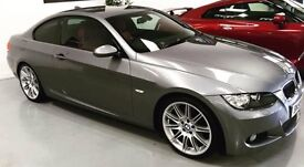 BMW 3 Series 320 D M Sport Grey/Red Leather FSH