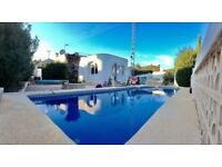 Villa for rental in Calpe Spain. Three bedrooms two bathrooms and private pool