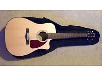 FENDER CD-140SCE ELECTRO ACOUSTIC GUITAR + Carry case