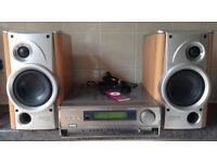 Denon AVC77 60 watts Integrated Audio Video Surround Amplifier Amp + Denon 2 Way speakers