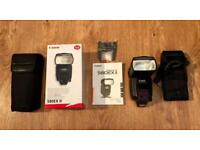 Canon 580ex II Camera Flash and Additional Battery Pack