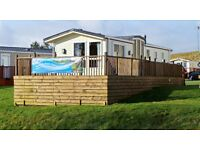 2008 Willerby Evolution 39 x 12 2 Bed sited on a Prime Riverside Pitch at Blackadder Holiday Park