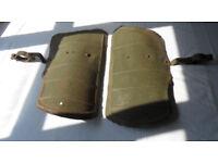Vintage Motorcycle Motor Bike Leg Guards - mountable Splash Mud Crash Protection fairings & brackets