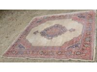 Antique Turkish Sparta Carpet 8ft.10in x 8ft.1in Wool on Wool Foundation