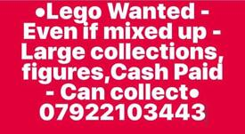 Looking for 'LEGO' Even if mixed up - Large or small lots, figures etc-Can collect