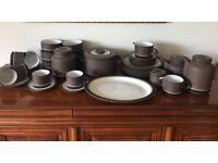 Retro chic 37 piece Lancaster Vitramic Contrast Hornsea Pottery Dinner Set