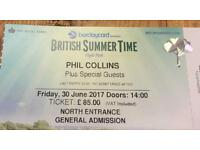 Phil Collins summer time tickets x 3