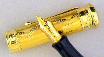 NEW LIMITED AURORA GIUSEPPE VERDI OPERA FOUNTAIN PEN 18K GOLD B NIB BROAD