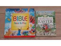 Bible read and play and Story of Easter books