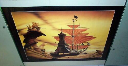 RODNEY MATTHEWS Terrestrial Voyager 1991 Poster Last One