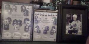 Toronto Maple Leafs Pic + 2 Boarded Posters For Sale Or Trade!