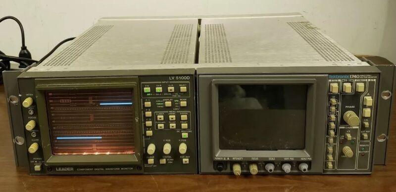 Leader LV 5100D Component Digital Waveform Monitor + tektronix 1740 W/V Monitor