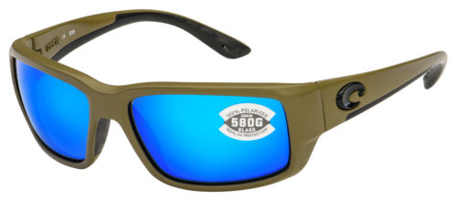 Costa Del Mar Fantail Matte Moss Blue Mirror Sunglasses 580G TF 198 OBMGLP