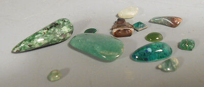 Lot of China Chinese Greenstone & Glass Amulets & Stones ca. 20th century