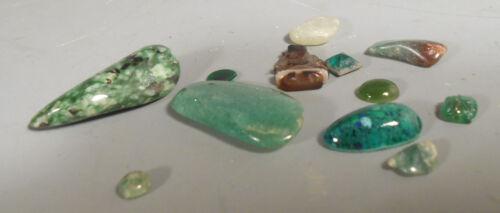 Lot of China Chinese Greenstone & Glass Amulets & Stones ca. 20th century