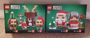 Lego 40274 40353  BrickHeadz Christmas Mr Mrs Claus Reindeer Elf Elfie