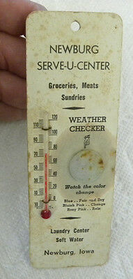 Vintage Newburg  Iowa Ia Serve U Center  Groceries  Meats  Laundry Thermometer