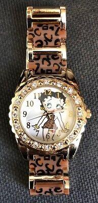 Betty Boop Cristales Oro Cara y Dorado Correa