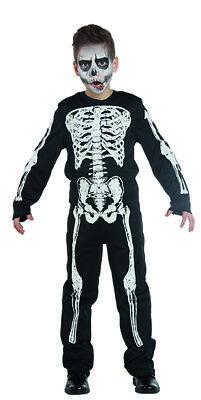 Skelett Boy Kinder Kostüm Junge Knochen - Knochen Kind Kostüme