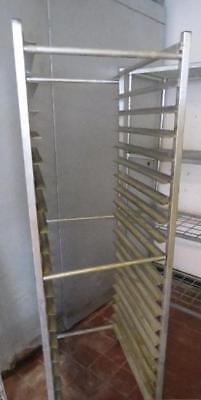 - Winholt Full Size Aluminum Baking Sheet Pan Rack Cart shelf mobile bun