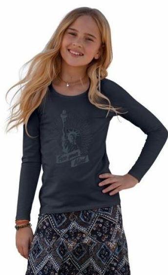 BUF Buffalo Sweatshirt Pullover Mädchen grau Gr.128-182 NEU anstatt 24,99€