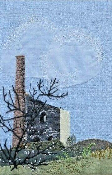 Meg Jenkins. Vintage Textile Material Image. Tin Hill Mine, Cornwall. 1973
