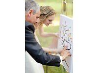 Canvas Fingerprint Tree Wedding