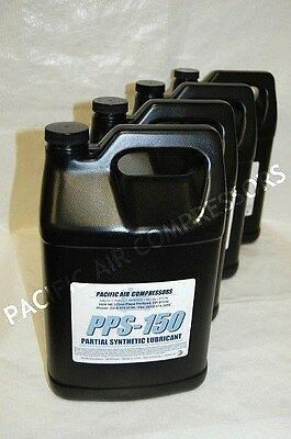 4 Pack Of One Gallon Pps-150 Partial Synthetic Reciprocating Compressor Oil