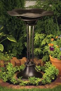 Kichler Metal Bird Bath with Light (Brand New In Box)