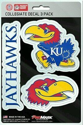 - Kansas Jayhawks Team ProMark Die-Cut Decal Stickers 3 Pack