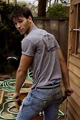 Masculine Male Hot Hunk Jock Working Blue Collar Beefcake Dude PHOTO 4X6 F147