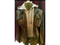 Grey genuine 100% leather jacket by Next