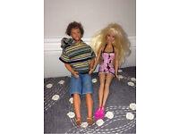 Beach Barbie and Ken dolls