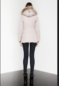 Mackage AKIVA WINTER DOWN COAT WITH FUR LINED HOOD IN nude